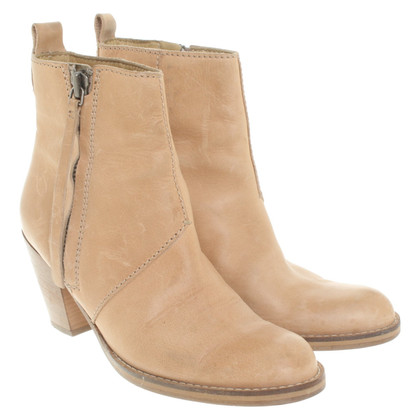 Acne Leather pistol boots