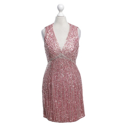 Jenny Packham Robe Sequin en rose