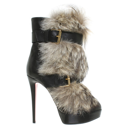 Christian Louboutin Ankle boots with fur trim