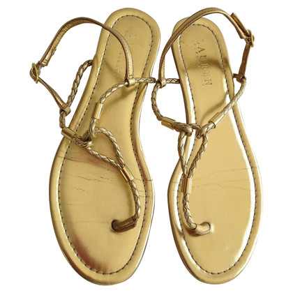Ralph Lauren Flip Flops Patent Leather