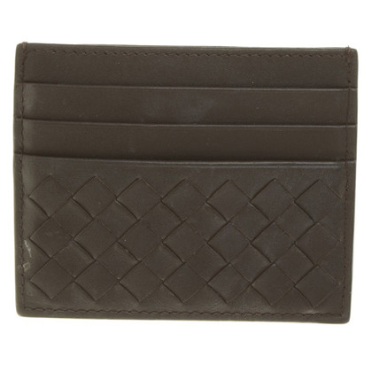 Bottega Veneta Card Case in marrone scuro