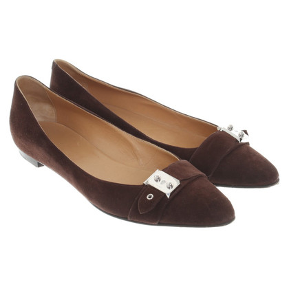 Hermès Ballerinas in Brown