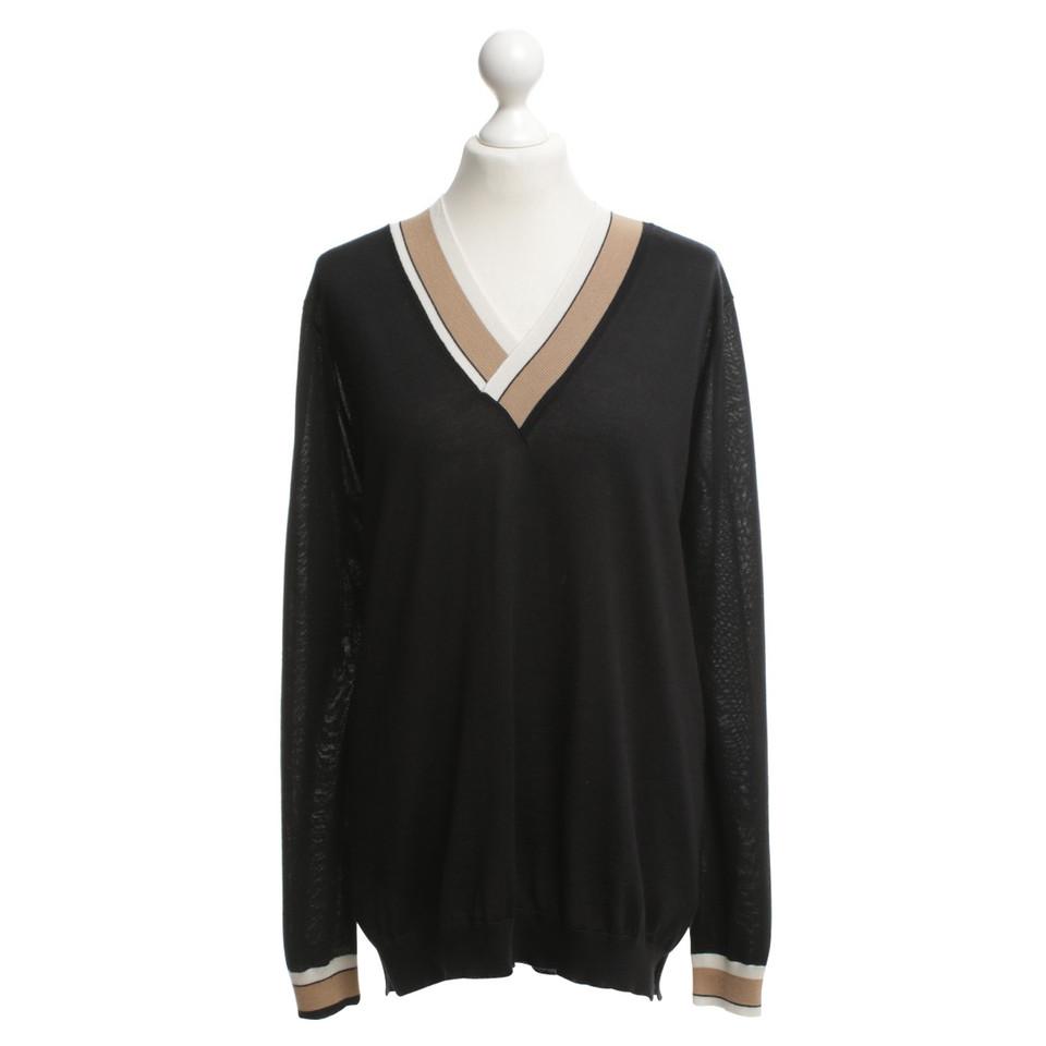 Agnona Gebreide trui in zwart
