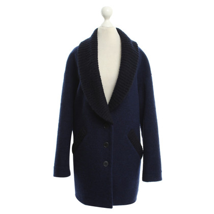 Band of Outsiders Oversize jacket with rib knit