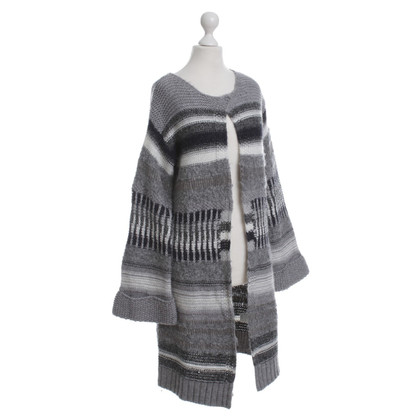 Set Knitted coat in grey