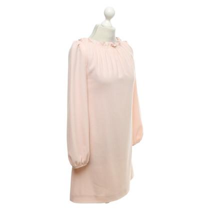 Goat Wool dress in pink