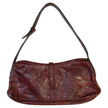 Roberto Cavalli Leather bag in bordeaux red