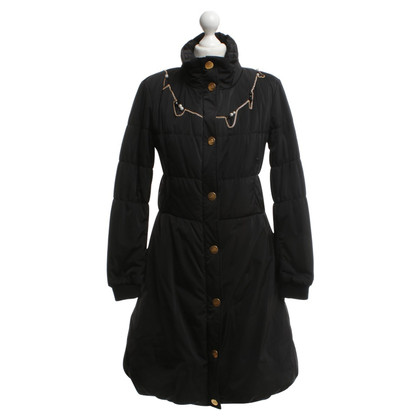 Moschino Love cappotto trapuntato in nero