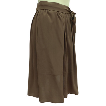 Chloé Silk skirt with tie belt