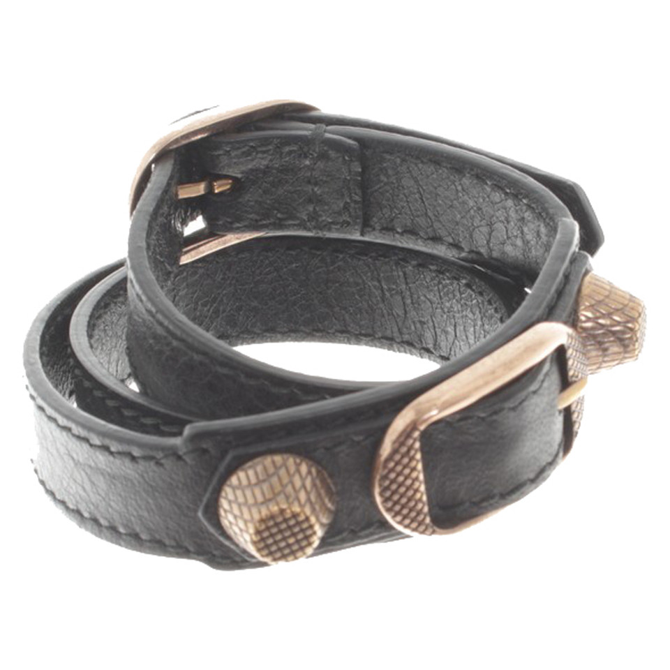 Balenciaga Leather Bracelet With Rivets Balenciaga Leather Bracelet With  Rivets