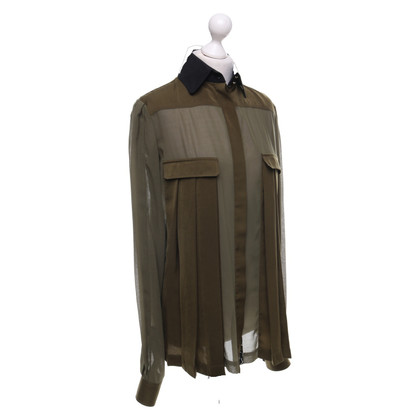Just Cavalli Blouse chemise en kaki / noir