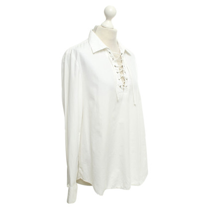 DKNY Oversized shirt blouse in white