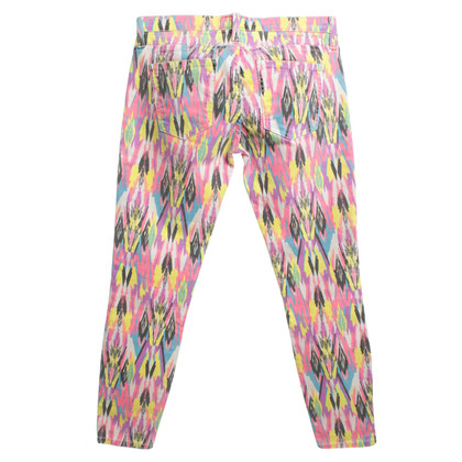 Current Elliott Jeans with ethnic pattern