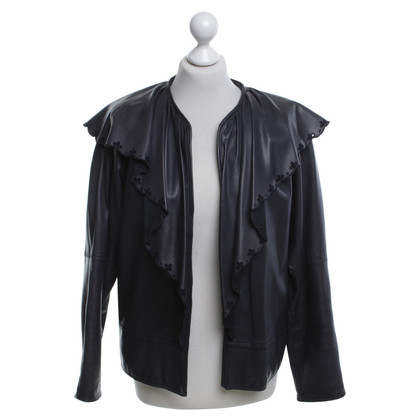 Gianni Versace Leather jacket in black