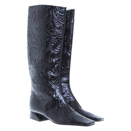 Fendi Black boots jackart