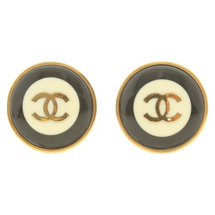 Chanel Orecchini a clip in tricolore