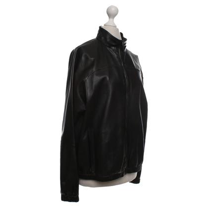 Gucci Leren jas in zwart