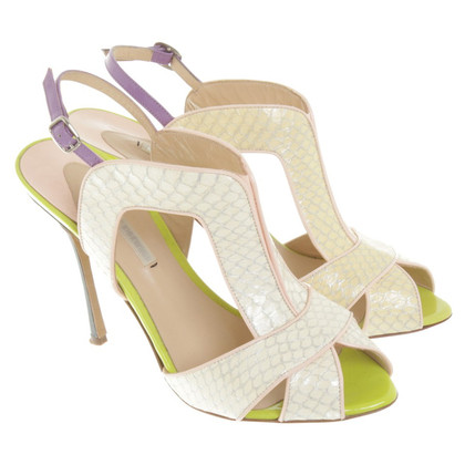 Nicholas Kirkwood pumps with reptile leather look