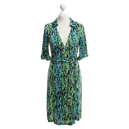 Diane von Furstenberg Multi-colored wrap dress