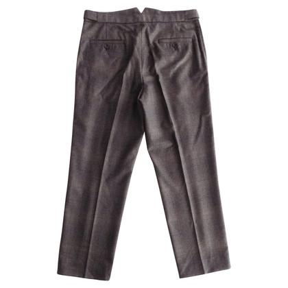 Miu Miu Pantaloni a sigaretta con check