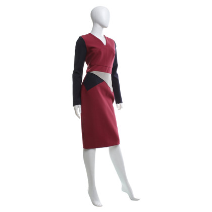 Roland Mouret Dress in red / dark blue / beige