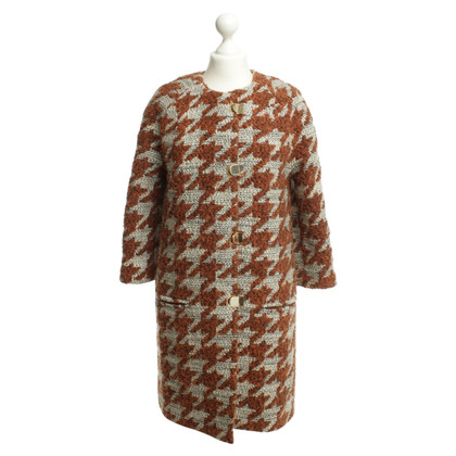Pinko Coat with Houndstooth pattern