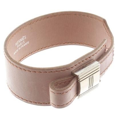 Hermès Cinturino in pelle rosa antico