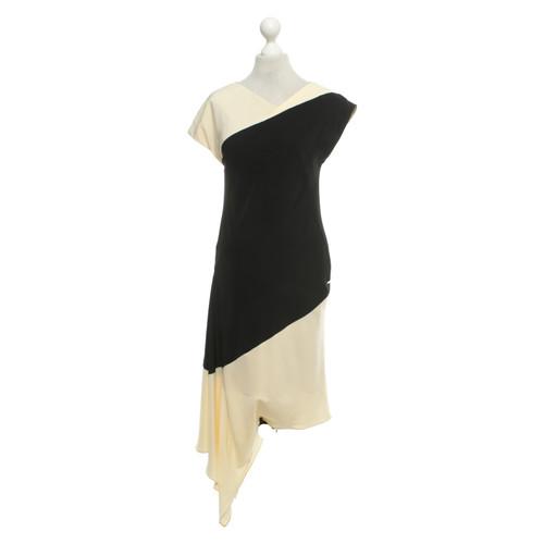 a92db94fcbd Escada Kleid in Schwarz Beige - Second Hand Escada Kleid in Schwarz ...