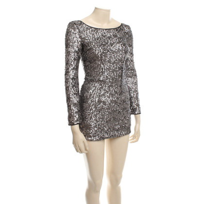 Karl Lagerfeld Dress with silver colored sequins