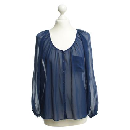 American Vintage Zijden blouse blauw