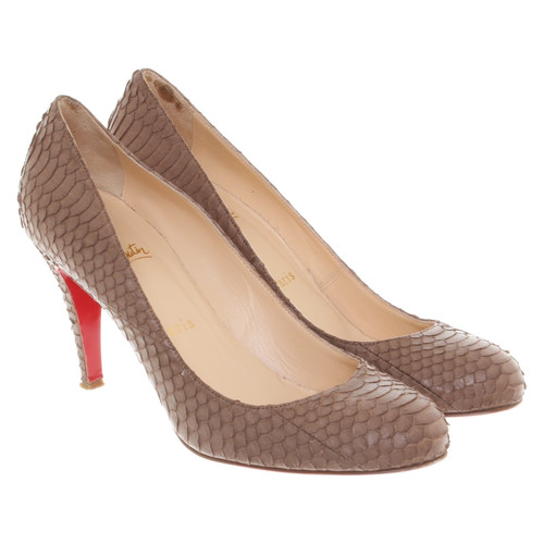 sale retailer 8e4b0 d3acd Christian Louboutin pumps made of snakeskin - Second Hand ...