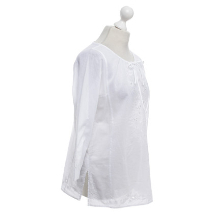Hobbs Blouse with embroidery in white