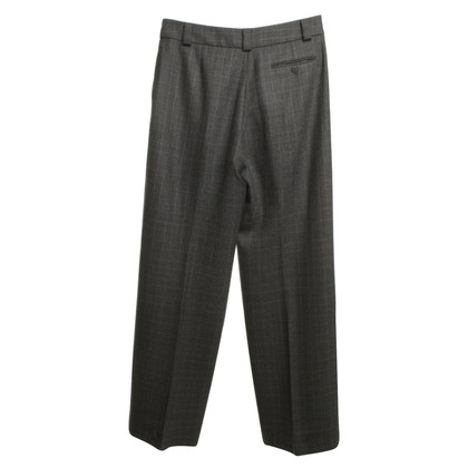 Giorgio Armani Marlene broeken in grijs met ruitpatroon