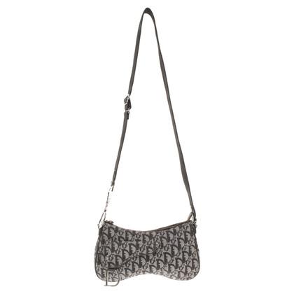"Christian Dior ""Saddle Bag"" in grey / black"