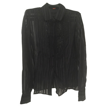 Hugo Boss Transparent blouse with sequins
