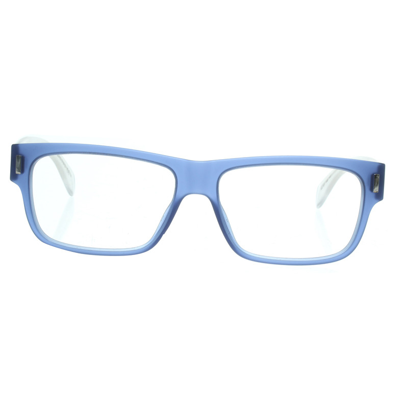 Marc by Marc Jacobs Brille in Blau/Transparent-Weiß - Second Hand ...