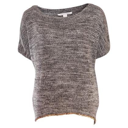 Diane von Furstenberg Strick-Shirt in Grau