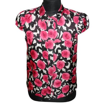 Tara Jarmon Silk blouse with print