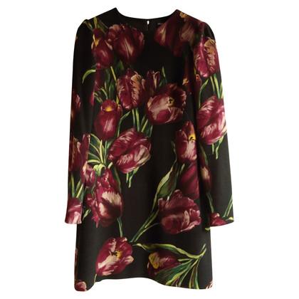Dolce & Gabbana Bloemenprint met wollen jurk