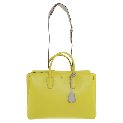 MCM Shopper in neon yellow