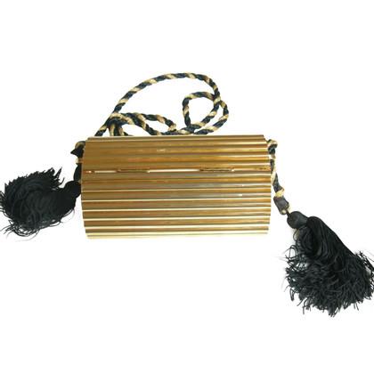 Yves Saint Laurent clutch metaal