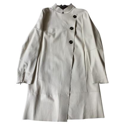 Sport Max Leather coat in cream