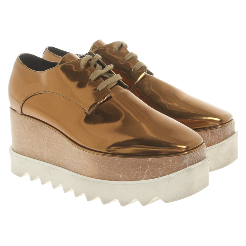 Stella McCartney Lace-up shoes in Gold