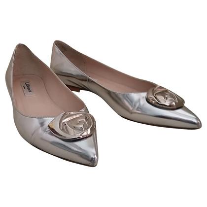 L.K. Bennett Silber-Metallic Flats