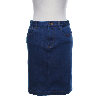 A.P.C. Denim skirt in blue