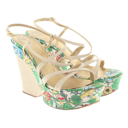 Casadei Sandals with a floral print