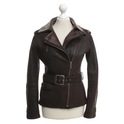 Alberta Ferretti Lambskin jacket in dark brown