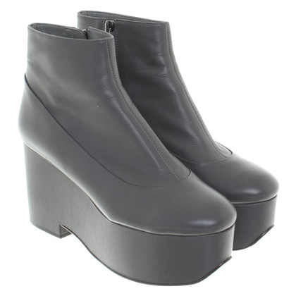 Jil Sander Ankle Boots in Gray