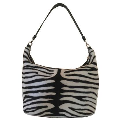 Prada Handbag with pony fur trim