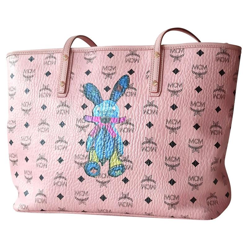 Mcm Shopper aus Leder in Rosa Pink Second Hand Mcm